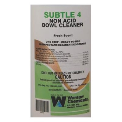 55gal SUBTLE 4 DISINFECTANT READY TO USE